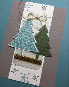 Peaceful Pines Christmas Card using Stampin' Up! Products #stampinup for a full list please visit my blog http://ellenthehappystamper.blogspot.com.au