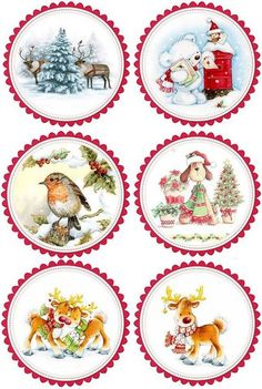 carterie pergamano et tableaux - Page 7 Christmas Decoupage, Christmas Paper Crafts, Christmas Gift Tags, Holiday Crafts, Vintage Christmas, Christmas Decorations, Christmas Ornaments, Diy Christmas, Christmas Graphics
