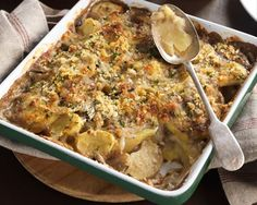 Mushroom, Potato and Kumara Bake recipe from Watties Food in a Minute Food In A Minute, Pasta Bake, Creamy Chicken, Baking Recipes, Macaroni And Cheese, Food To Make, Vegetarian Recipes, Stuffed Mushrooms, Potatoes