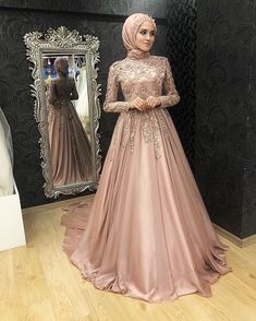 Muslim Wedding Gown, Muslim Evening Dresses, Muslimah Wedding Dress, Hijab Evening Dress, Hijab Dress Party, Muslim Wedding Dresses, Bridal Dresses, Dress Wedding, Dress Muslimah