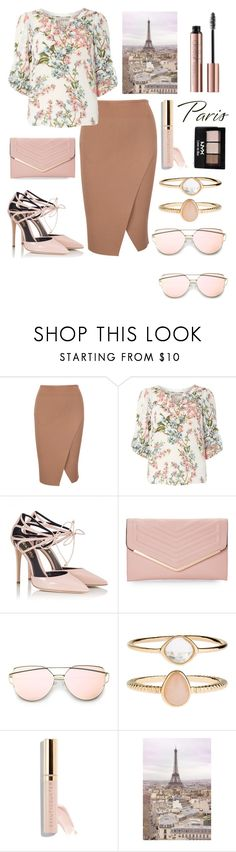 """""""Fall in Paris..."""" by emcraff ❤ liked on Polyvore featuring Billie & Blossom, Fratelli Karida, Sasha, Accessorize, Beautycounter, NYX and WALL"""