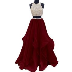 Two Piece Floor Length Burgundy Prom Dress Beaded Open Back Evening Gown Open Back Prom Dress, Burgundy Evening Dresses, Prom Dress Two Piece, Prom Dress Prom Dresses 2019 Fancy Prom Dresses, Open Back Prom Dresses, A Line Prom Dresses, Quinceanera Dresses, Day Dresses, Pretty Dresses, Homecoming Dresses, Dress Prom, Formal Dresses
