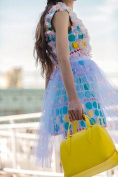 The #Delpozo Yellow Mini Benedetta bag.