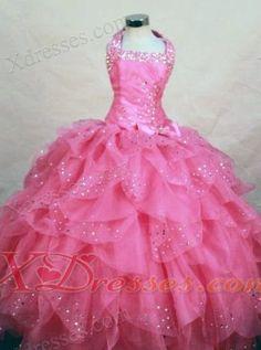 Beading Little Girl Pageant Dresses
