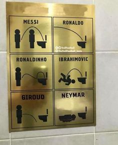 Now even a Bathroom sign mocks Neymar