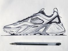 Nike Drawing, Sneakers Fashion, Fashion Shoes, Sneakers Sketch, Air Max Sneakers, Sneakers Nike, Shoe Sketches, Industrial Design Sketch, Mechanical Design