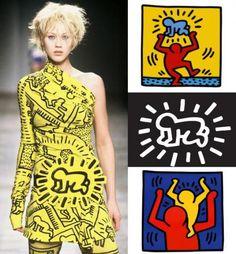 Keithe Haring print on jean charles de castelbajac