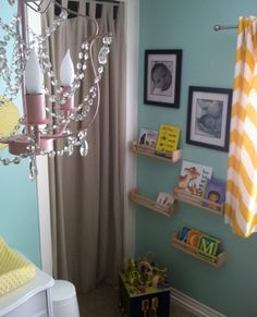 DIY nursery featuring fun and bright accents
