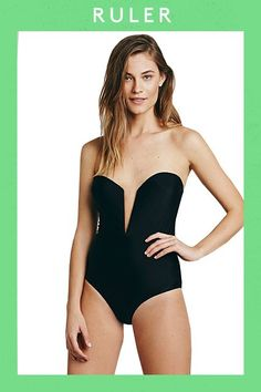 The Best Swimsuits For YOUR Shape  #refinery29  http://www.refinery29.com/affordable-swimsuits-by-body-type#slide-13  Despite its plunging, sweetheart neckline, you'll still have plenty of support from this one-piece's molded, padded cups.
