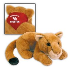 10 inch plush bulldog with University of Houston logo. Show your Cougars pride.