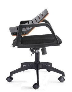 Modern commercial swivel reclining upholstered seat staff mesh office chair with folding back - China Foshan Staff Office Chair & Computer Seating Factory #ergonomicofficechairmodern