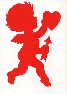 """10"""" Vintage Die Cut Cupid Teacher Decoration 1950 Arrow Heart Valentine Dennison   eBay"""
