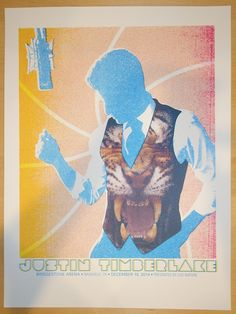 2014 Justin Timberlake - Nashville Concert Poster by Andrew Vastagh