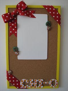 Chi Omega Cork & Dry Erase Board by DitzyDotShop on Etsy, $25.00