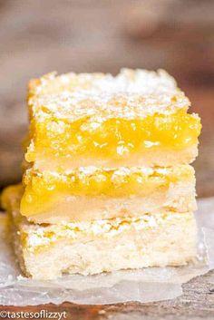 Lemon Bars Recipe {Easy Lemon Dessert with Shortbread Crust}