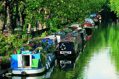 Little Venice in London - narrow paths, gorgeous scenery, favourite biking route in London! See the full route at http://www.whitebearebikes.com/riders/favourite-london-routes/