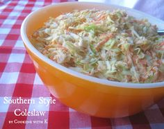 Cooking with K | Southern Kitchen Happenings: Southern Style Coleslaw + How to make the dressing to go on it! {Grannys Recipe}