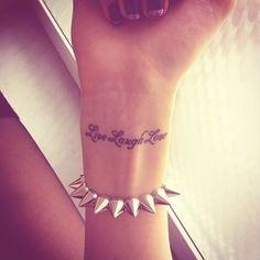 Wrist Tattoo in White Ink