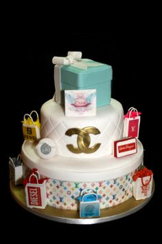 fashion cake - cake with famous brands