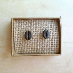 Coffee Bean Earrings  Antiqued  Copper  Beans  Stud by andyshouse