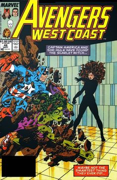 Marvel Comics of the 1980s: 1989 - Anatomy of a Cover - Avengers West Coast #48