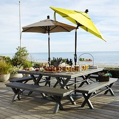 """Union 72"""" Trestle Dining Table in Outdoor Dining Tables 