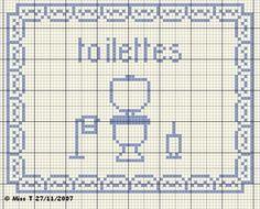 wc - panneau - point de croix-cross stitch - broderie-embroidery- Blog : http://broderiemimie44.canalblog.com/