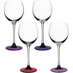 Set of 4 LSA International Coro wine glass, assorted berry