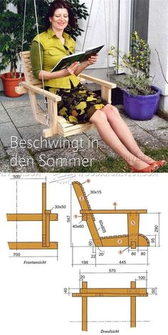 Wooden Swing Plans - Outdoor Furniture Plans and Projects | WoodArchivist.com