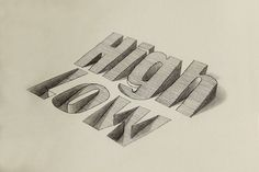3D Typography on Behance