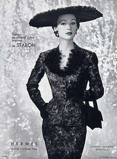 Hermès (Couture) 1953 Fashion Photography