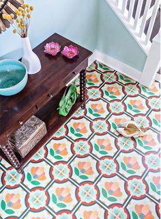 Gorgeous vibrant floor tiles!