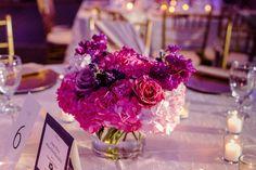 Glamorous Raspberry and Gold Wedding in Houston: Candace + Jeffrey