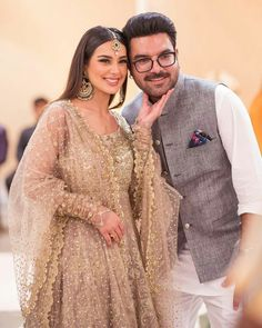 Click on Visit for Video - Full Video on Youtube Famous Celebrities, Celebs, One Month Old Baby, Iqra Aziz, Bridal Photoshoot, Couple Outfits, Pakistani Actress, Celebrity Couples, Real Couples