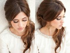 Low ponytail with loose front- effortless and elegant