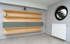 Wall shelf plywood