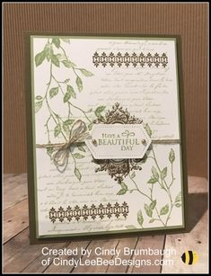 Stampin' Up Very Versailles Stampin' Up Very Versailles. Stampin' Up Very Versailles Stampin' Up Very Versailles Versailles, Stampin Up Karten, Stampin Up Catalog, Bee Design, Floral Design, Stamping Up Cards, Scrapbooking, Tampons, Sympathy Cards