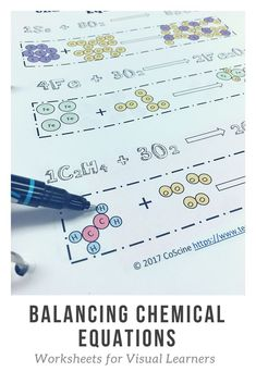 Use this 3 page worksheet on balancing chemical equations to show your chemistry students the difference in coefficients and subscripts. Chemistry Classroom, High School Chemistry, Chemistry Notes, Chemistry Lessons, Teaching Chemistry, Chemistry Experiments, Science Notes, Science Chemistry, Middle School Science