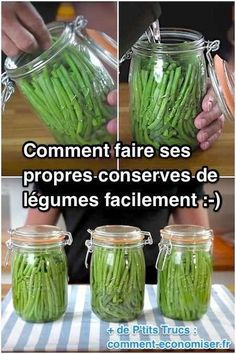 How to easily make your own canned vegetables. - How to easily make your own canned vegetables. Batch Cooking, Cooking Tips, Canning Pickles, Aquaponics System, Food Hacks, Healthy Dinner Recipes, Good Food, Food And Drink, Sauces