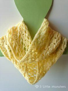 5 Little Monsters: Spring Scarf: Free Crochet Pattern