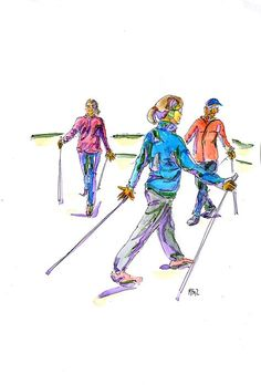 Walking with Walkim on Behance What Is Nordic, Walking Pictures, Nordic Walking, Walking Exercise, Rando, Fitness Activities, Cross Country, Behance, Notebook