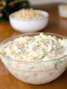 Receita de Salada de Batata com Maionese super colorida