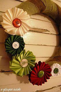 Ribbon Medallion Wreath