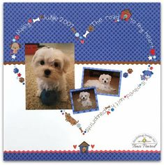 Doodlebug Design Inc Blog: Smash Up Challenge: Blue Jean and Maisy Puppy by Traci