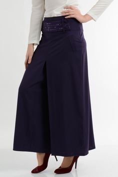 • PALAZZO PURPLE SKIRT • from Croyance London