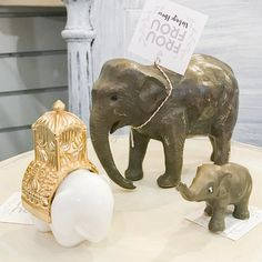 Inspired by our recent zoo trip I rounded up all my vintage elephants for my booth @curiositiesvintage