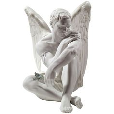 Lladrò Home Protective Angel Porcelain Figurine (288.530 HUF) ❤ liked on Polyvore featuring home, home decor, filler, decor, white, handmade home decor, lladro figurines, porcelain figurines, white angel figurines and porcelain figure