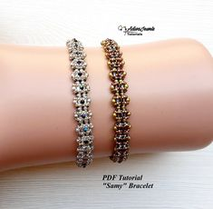 Seed Bead Bracelets Tutorials, Beaded Bracelets Tutorial, Earring Tutorial, Beading Tutorials, Beading Patterns, Swarovski, Beaded Necklace Patterns, Seed Beads, Etsy