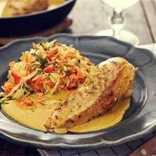 Currystekt kycklingfilé i mangosås med grönsaksris - Bong Touch of Taste 300 Calorie Lunches, Cooking Recipes, Healthy Recipes, 300 Calories, Chutney, Food Hacks, Foodies, Chicken Recipes, Food And Drink