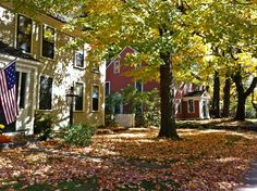 A quintessential New England autumn in Concord, Massachusetts New England Fall, New England Travel, Concord Massachusetts, Cider House Rules, Beautiful Homes, Beautiful Places, Greater Boston, In The Beginning God, Visit Usa